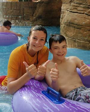 lifeguard pool child
